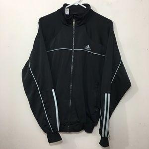 Adidas men's Polyester stretch track jacket black